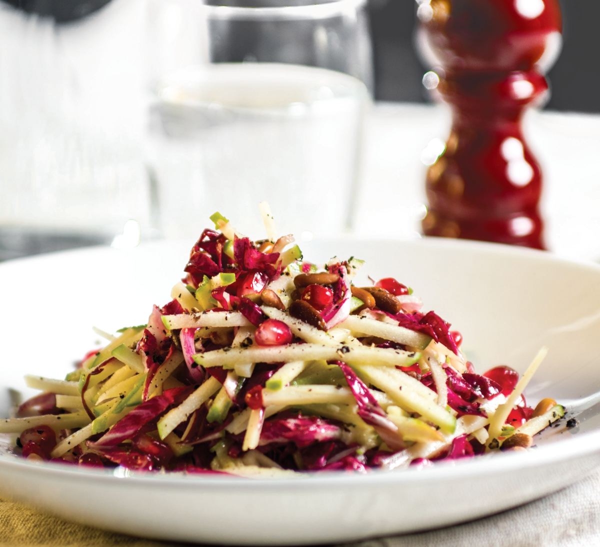 Radicchio Apple and Asiago salad