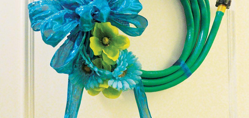 Fabulous Spring Garden Hose Wreath DIY - Home Trends Magazine