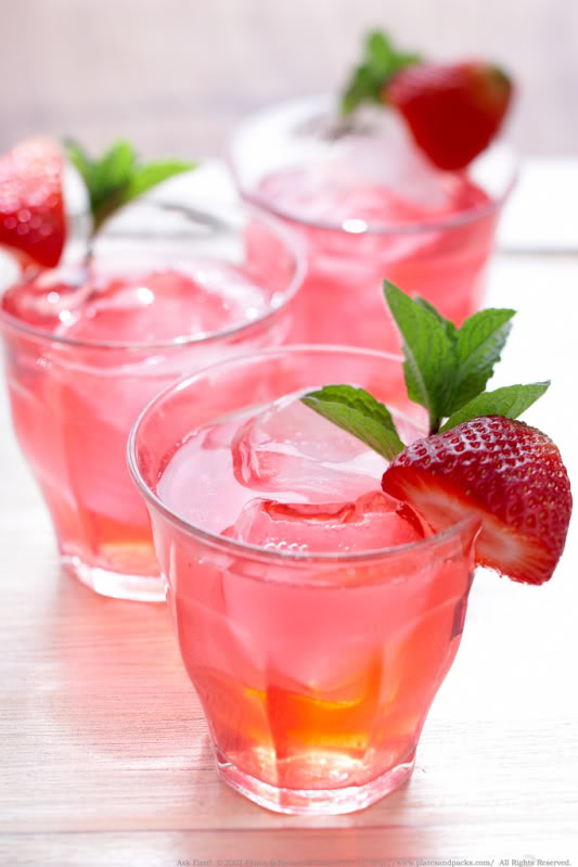 Strawberry Spiked Iced Tea