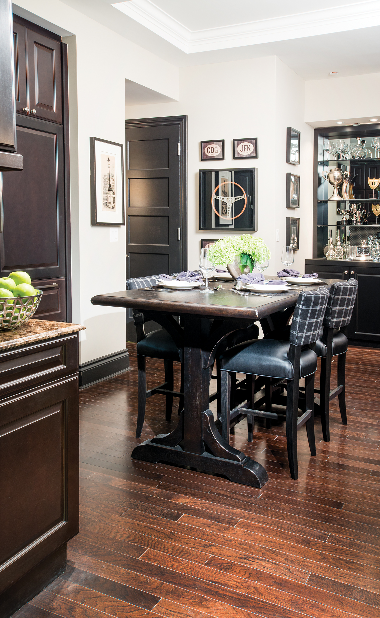 A kitchen area meant for mingling.