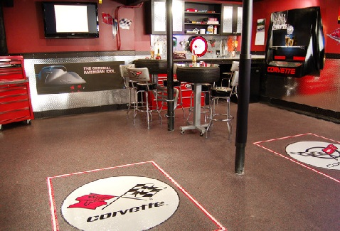 Creating the ultimate man cave in the garage home trends for 2 car garage man cave
