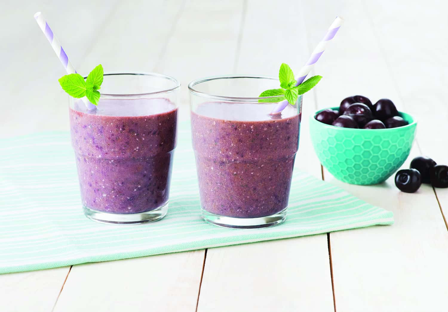 Okanagan Cherry Mint Smoothie