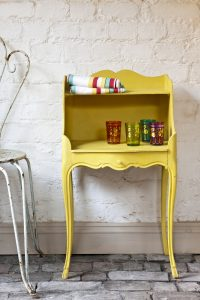 English Yellow_side table