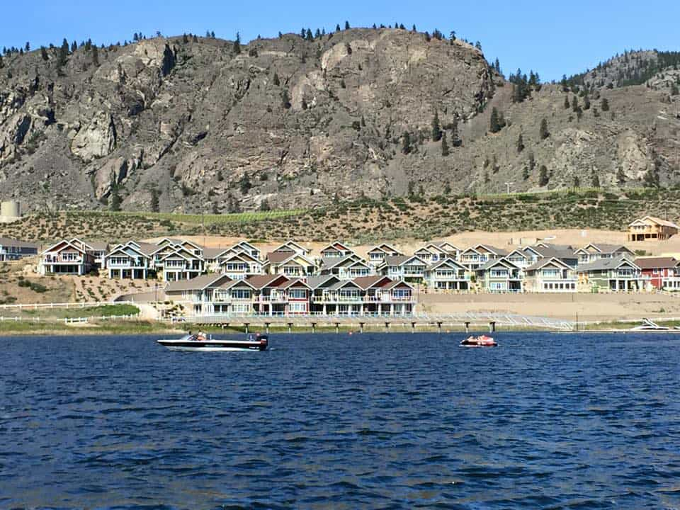 A view of the Cottages from the lake.