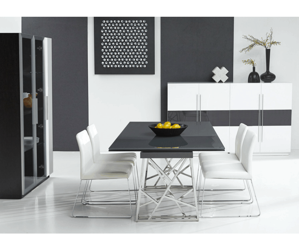 "The Guillermo Dining Table offers nearly seamless expansion from 71"" to109"" for a clean, modern look!"