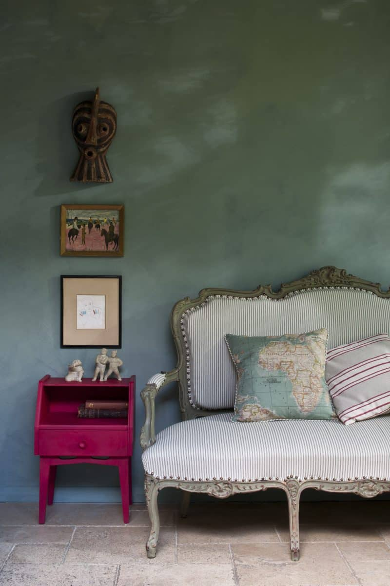 Annie Sloan's garden room 'Room Recipes for Style and Colour' photo by Christopher Drake