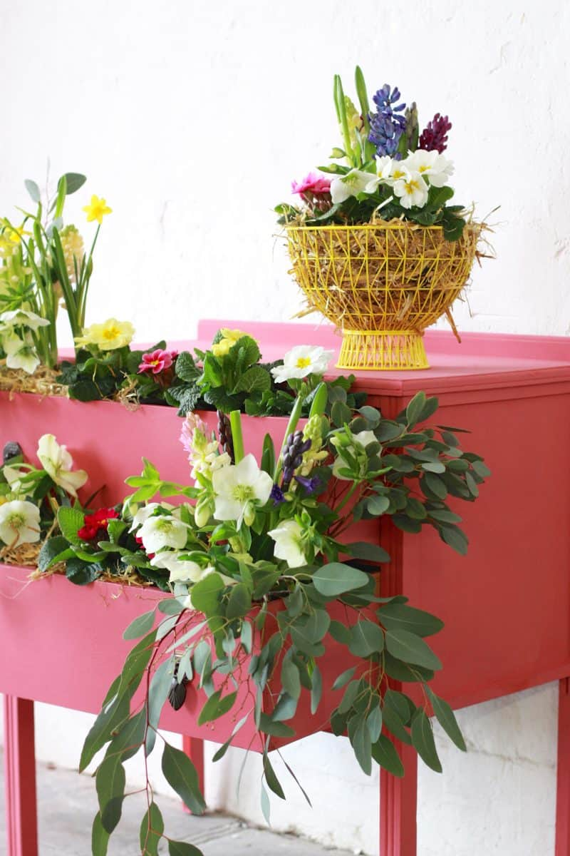 Abigail & Ryan Bell's Floral Coral Chest of Drawers. Annie Sloan Painters in Residence (2)