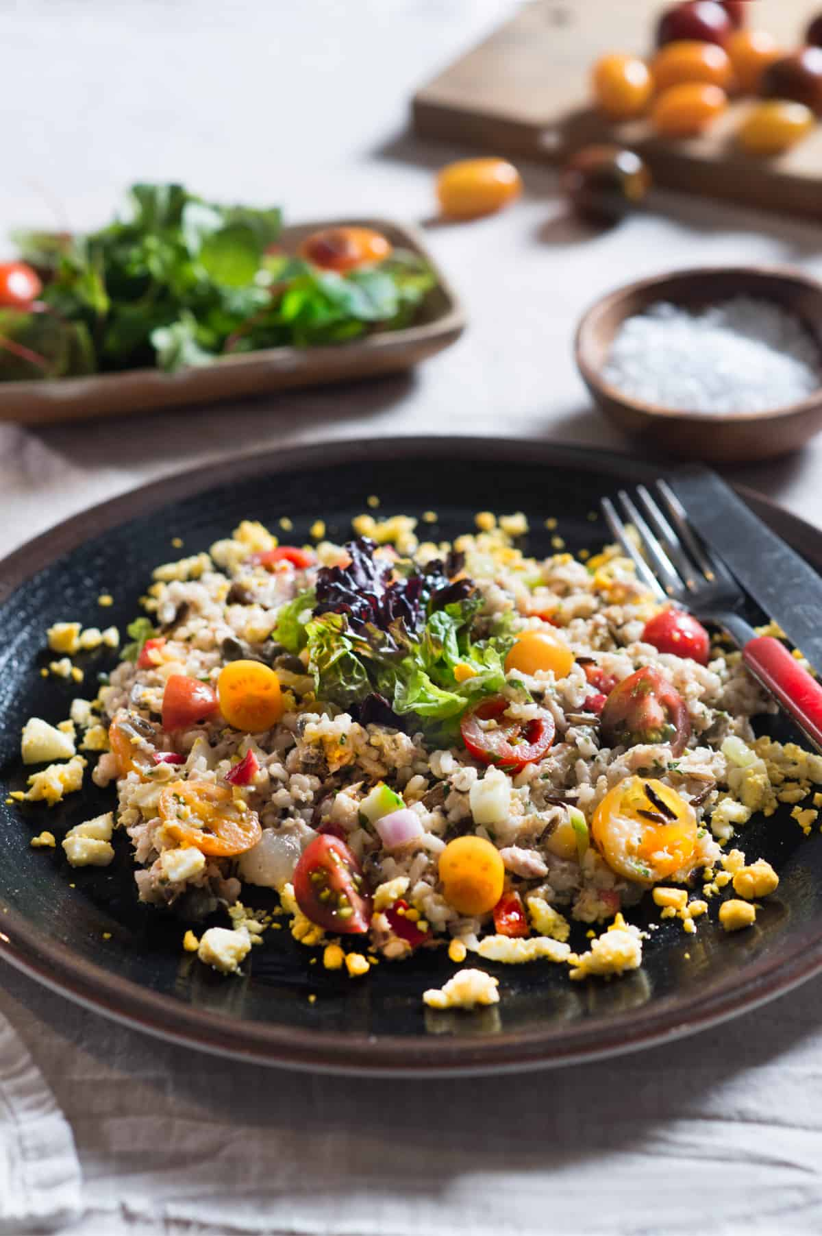 Tuna, Rice & Grains Salad with Vegetables