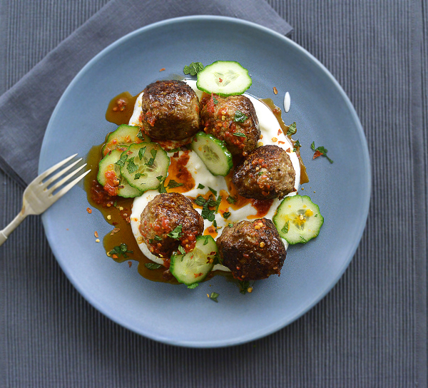 Lamb Kofta with Spiced Yogurt