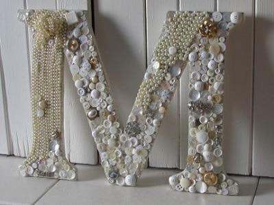 Seashell Monogram Letter