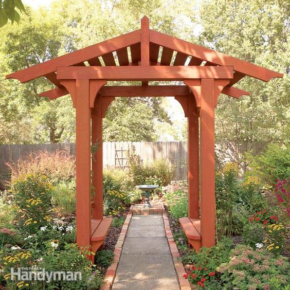 difference between arbor and pergola