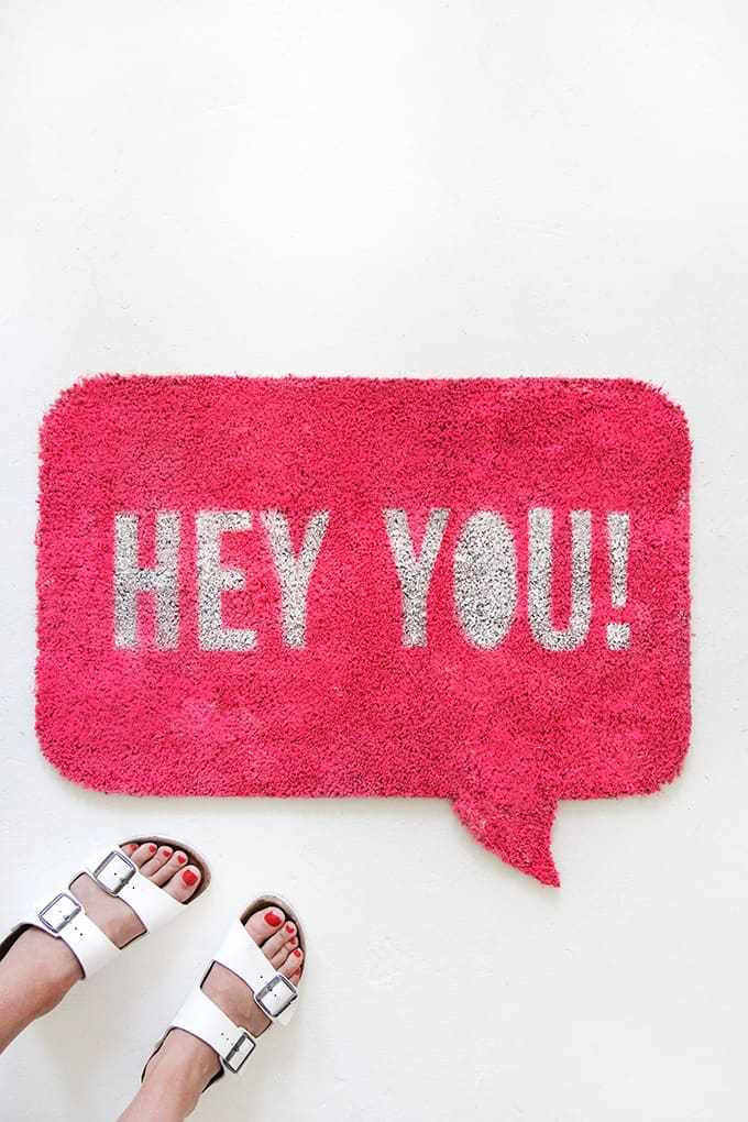 Quote Bubble Welcome Mat