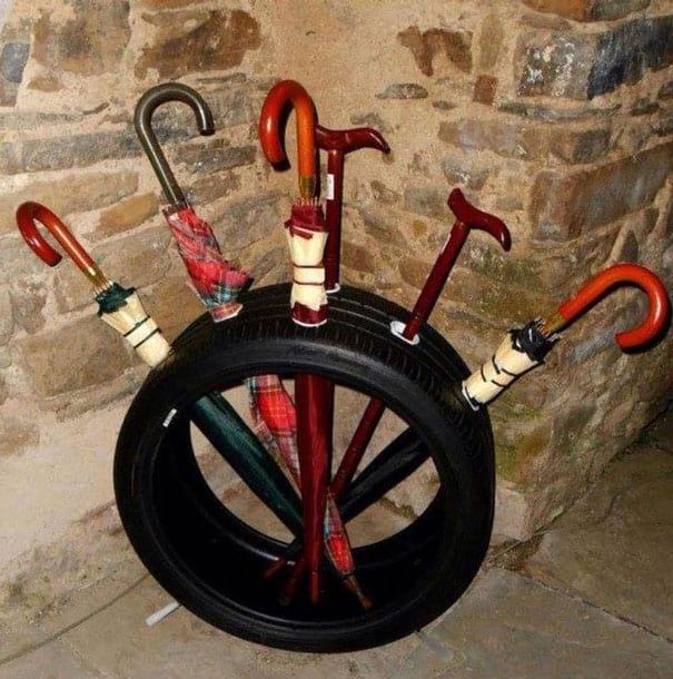 Tire Umbrella Stand