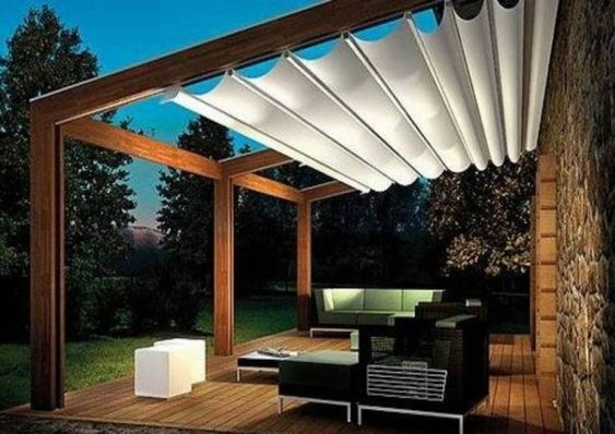 pergola with roof pavilion