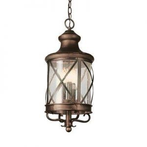 "Trans Globe Lighting 5124 New England Coastal 20"" Outdoor Hanging Coach Light"