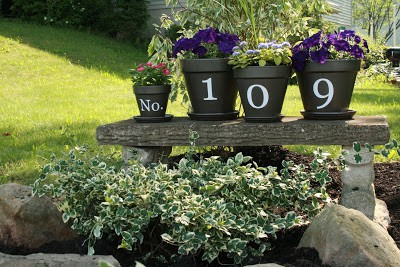 Photo Source: Canadian Home Trends, DIY House Number Signs You Can Make This Weekend