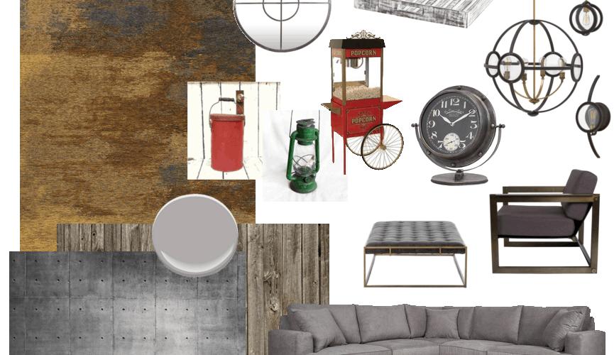 Glen Pelosos Vintage Finds Living Room Design Board Home Trends