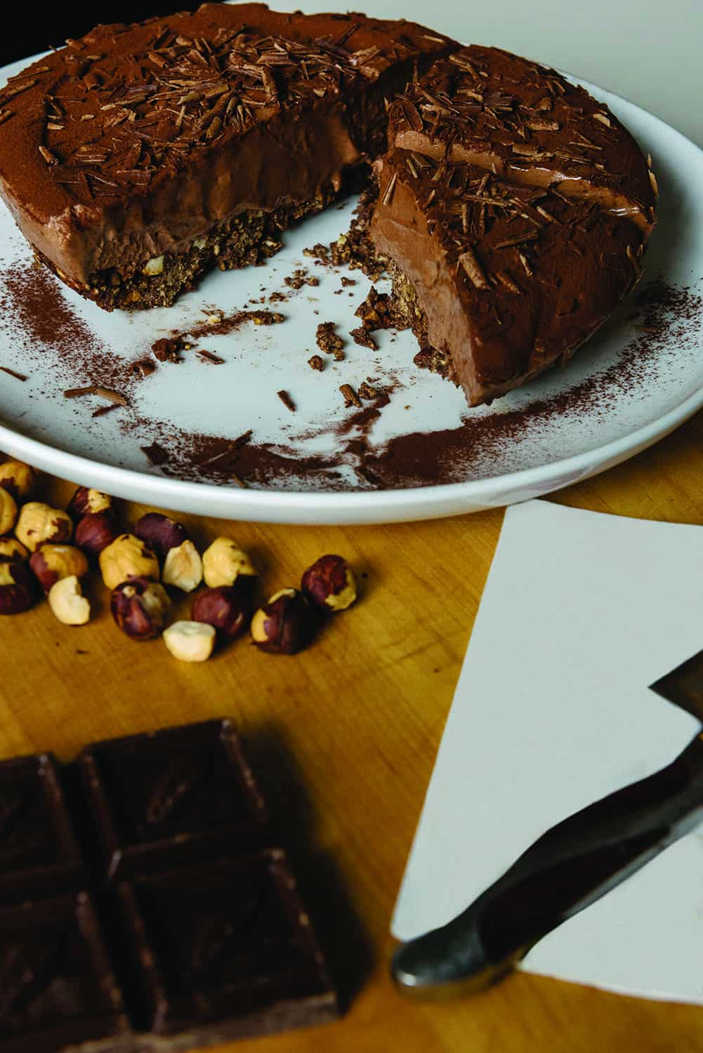 Chocolate Hazelnut Semifreddo in a Cinnamon Chocolate Crust