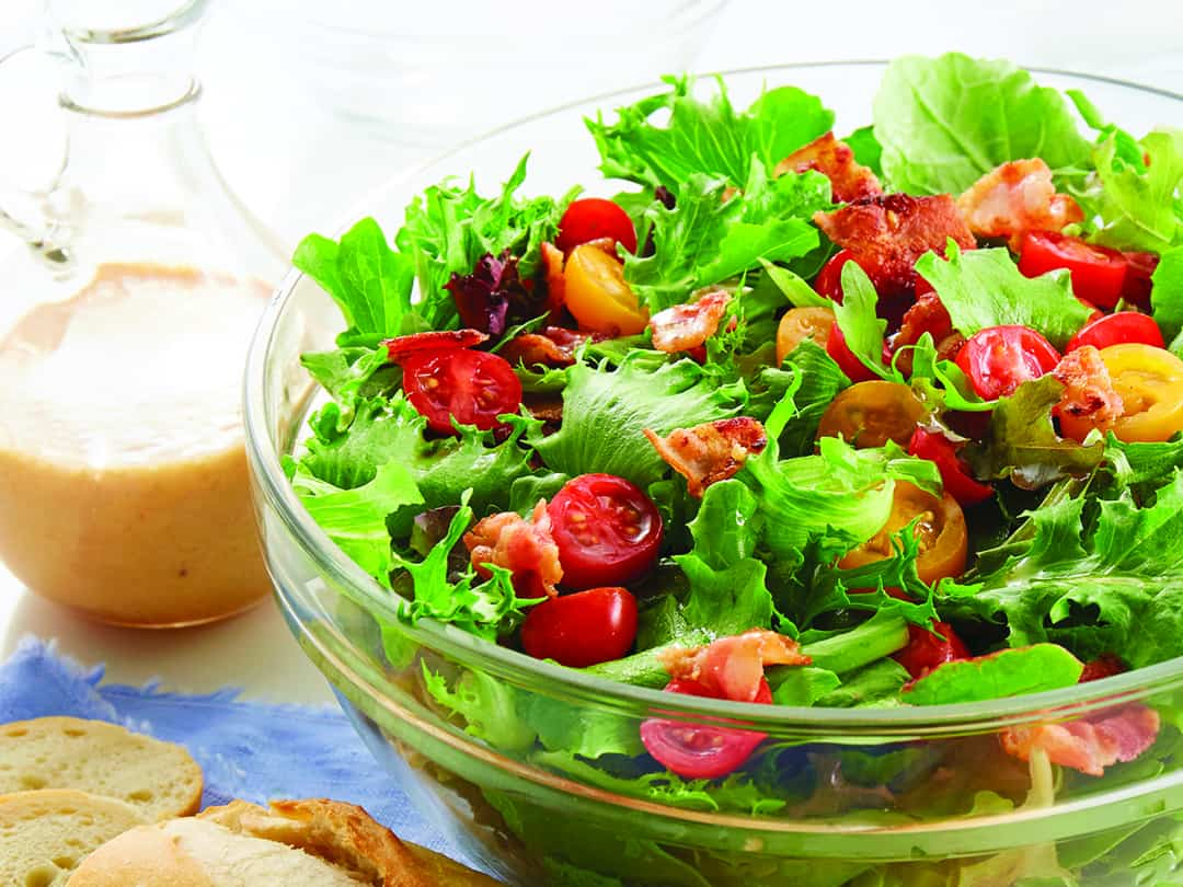 Mixed Greens with Bacon Dressing