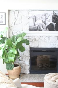 DIY+Fireplace+Makeover+-+How+To+Whitewash+Stone