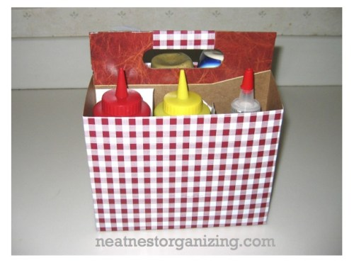 six pack condiment caddy