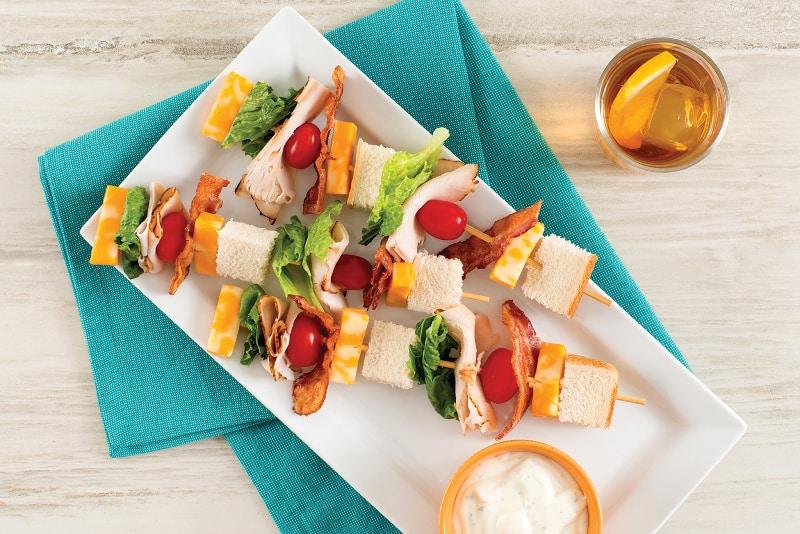 Club Sandwich Skewers