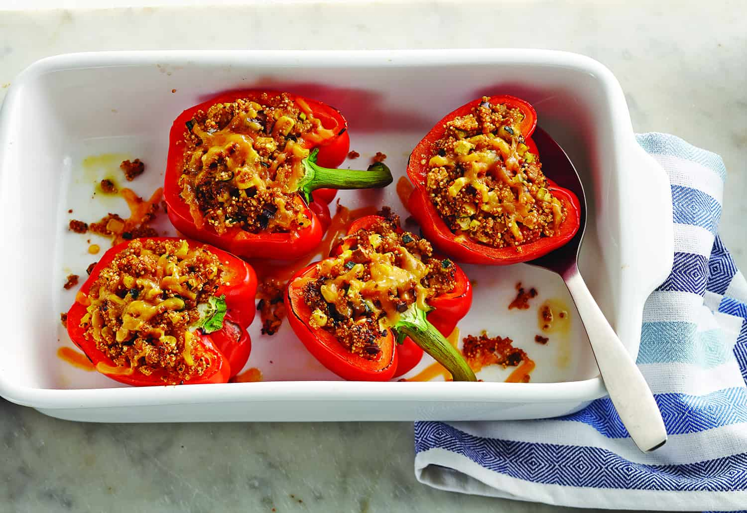 Quinoa & Veggie Stuffed Sweet Peppers