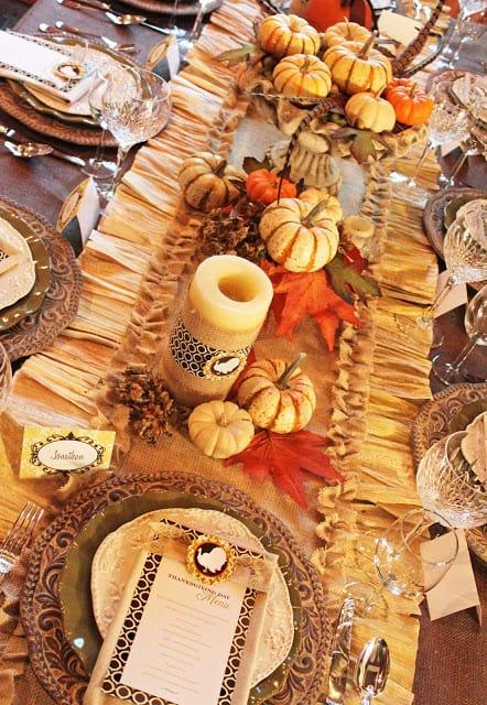 Thankgiving Table Setting