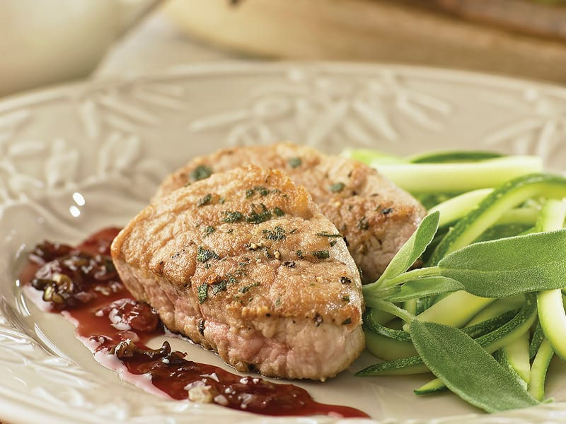 Pork Medallions with Sage and Port
