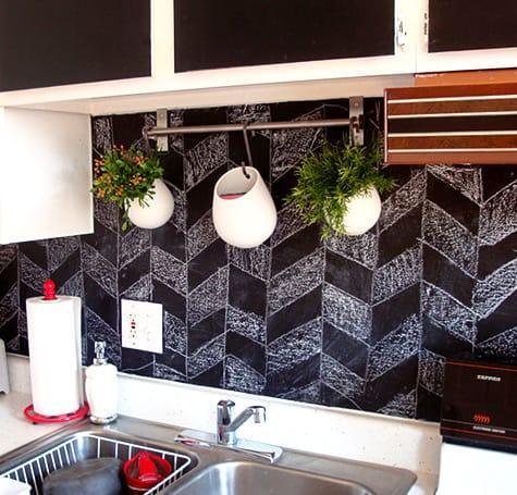 Chalkboard Paint DIYs For Your Home Home Trends Magazine Beauteous Chalkboard Paint Backsplash Exterior