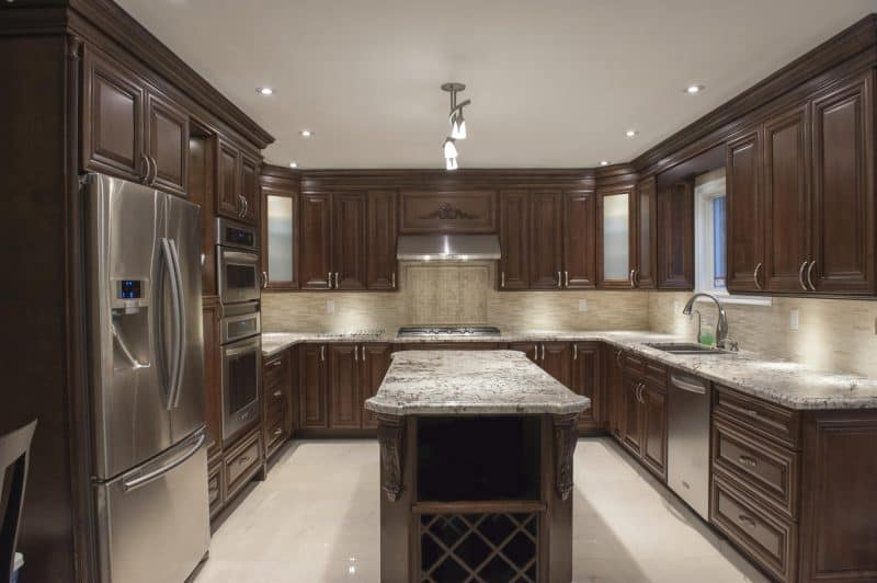 dark-wood-kitchen-cabinets