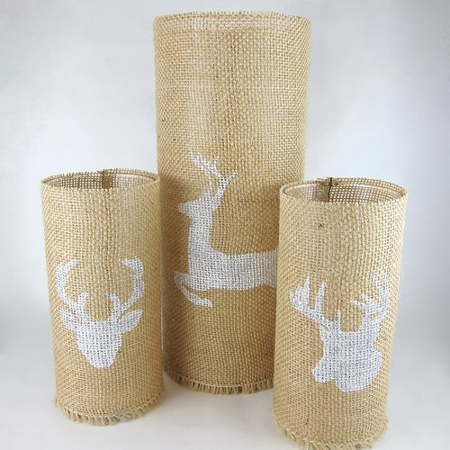 stenciled-burlap-candleholders