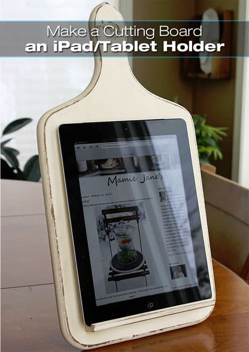 Cutting Board Ipad Tablet Holder Small Home Trends Magazine