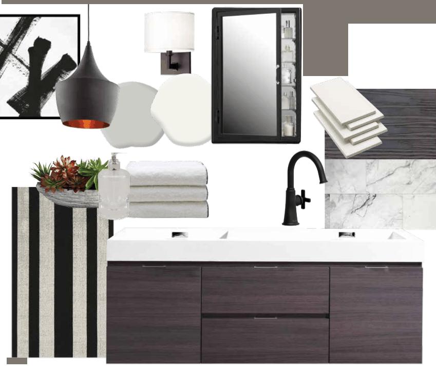 Kim Bartley 39 S Urban Contemporary Bathroom Design Board Home Trends Magazine