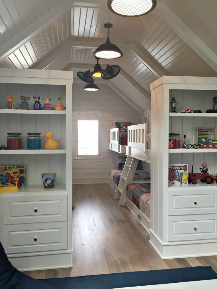 bunk room in attic