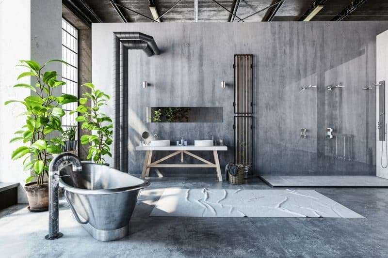 If You Enjoy An Open Concept Bathroom, This Is One Of Those Hot Trends In  Bathroom Remolding Design That Youu0027ll Definitely Love. The Industrial Open  Concept ...