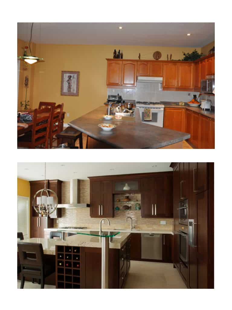 Made to entertain a kitchen makeover before after home for Andros kitchen bath designs