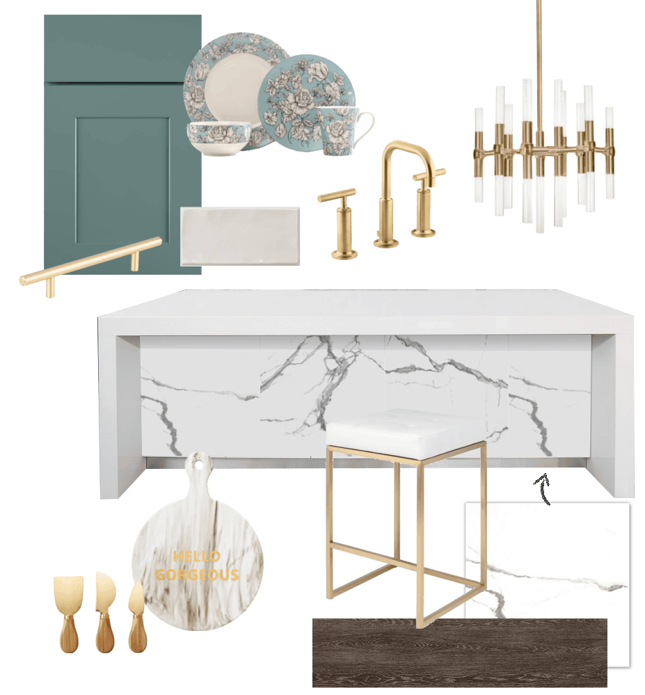 Crystal's Modern Classic Kitchen Design Board