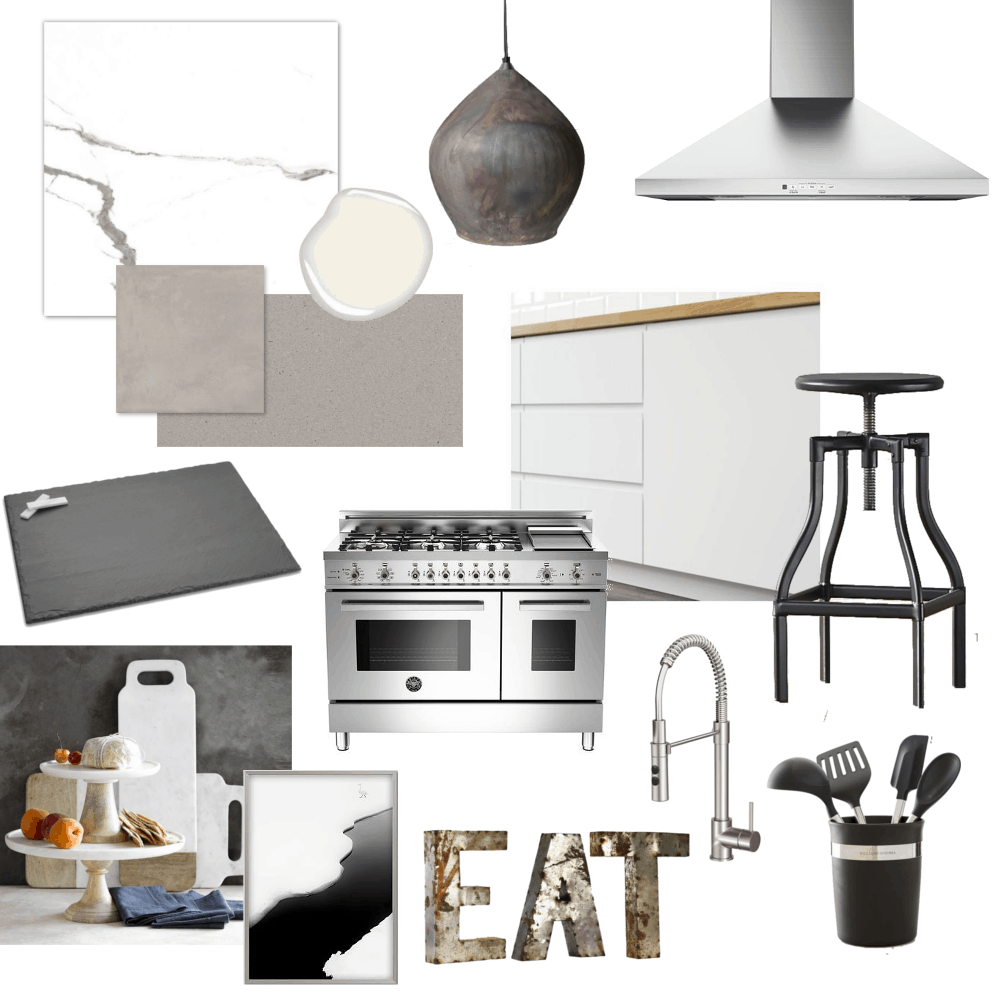 Kim 39 s modern monochromatic kitchen design board home trends magazine Modern kitchen design magazine