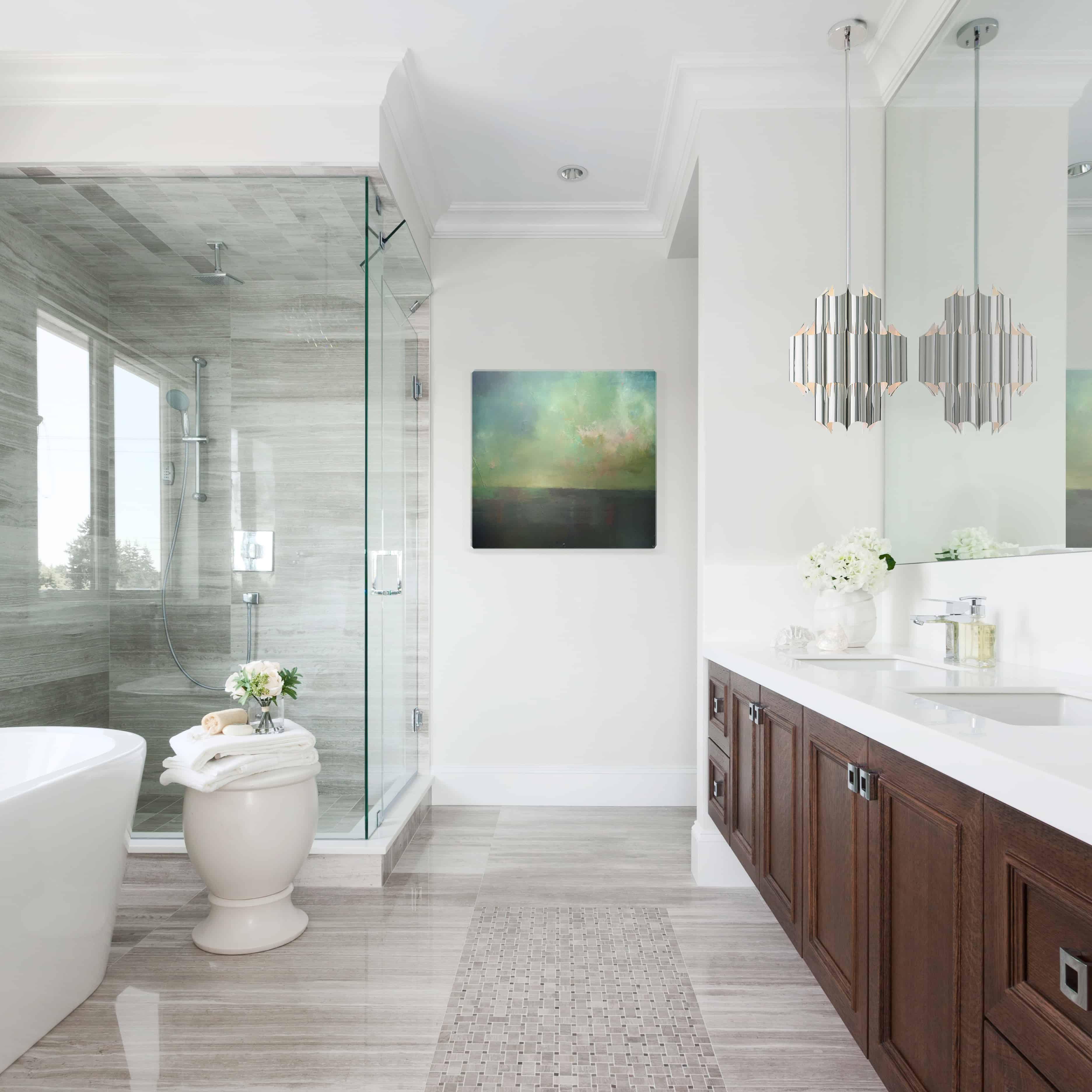 Gorgeous solutions to make your bathroom lighting stand out home finish and number of bulbs for your vanity light bar today homeowners and designers are mixing things up with scones pendants and more mozeypictures Gallery