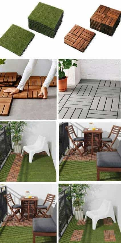 flooring for a small balcony decor