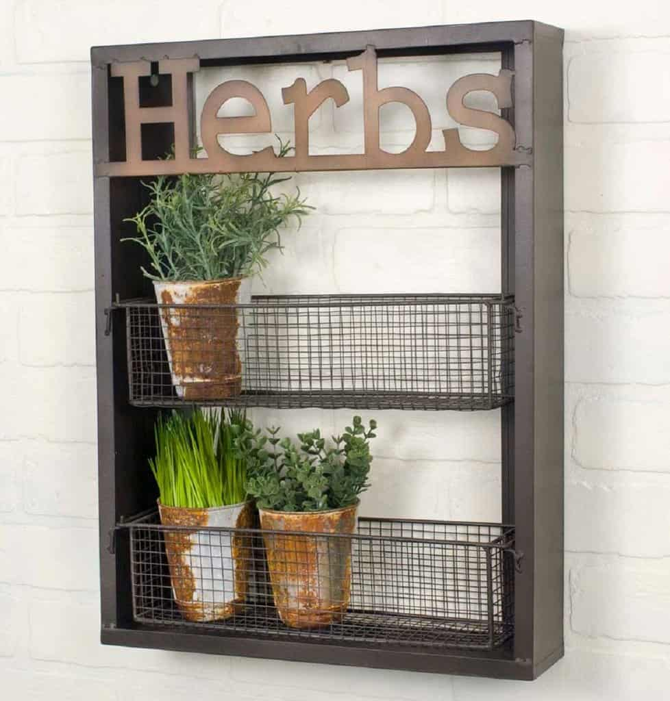 space saving hack herb rack