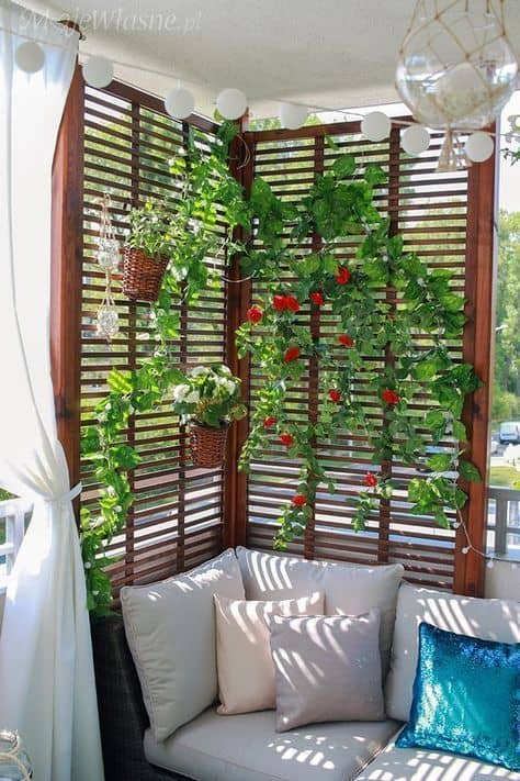 small balcony vertical garden small