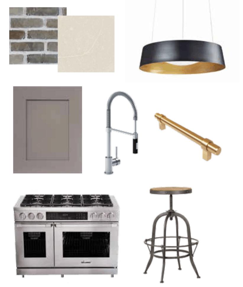 Marc Atiyolil's Industrial Luxe Kitchen Design Board