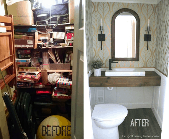 How To Turn A Closet Into A Bathroom Home Trends Magazine