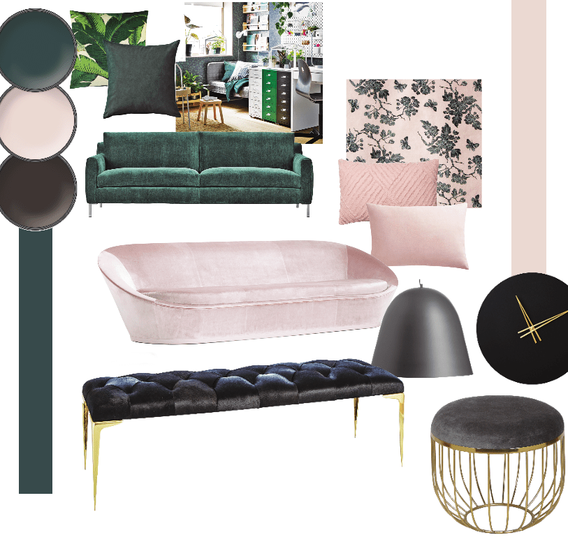 2019 color trends green blush and black home trends - 2019 home color trends ...