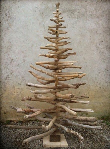 RECYLCED WOOD TREES: Small Stick Tree