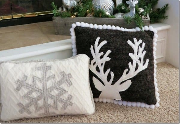 Upcycled Sweater Throw Pillows