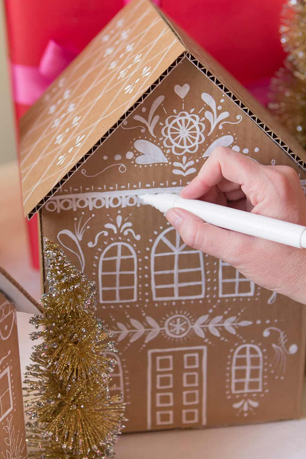 DIY Gingerbread House Wrapping
