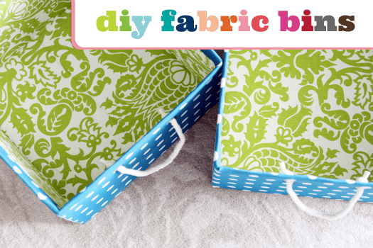 No Sew Fabric Storage Boxes